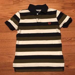 Boys Size 7 Blue/Green/White Chaps Polo Shirt